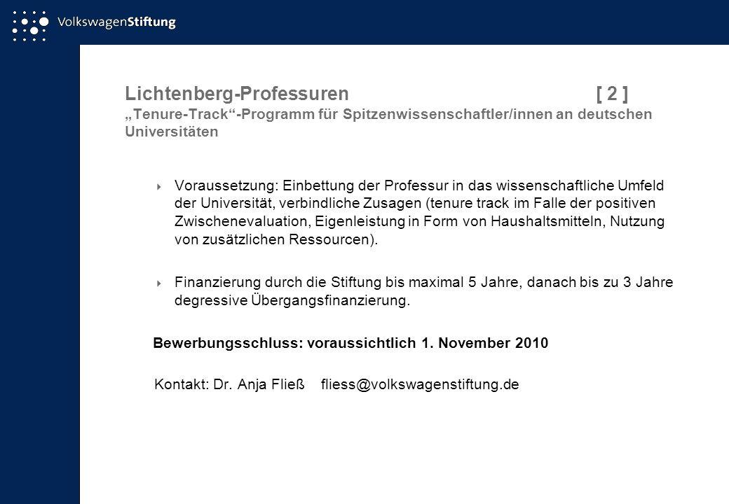 Lichtenberg-Professuren