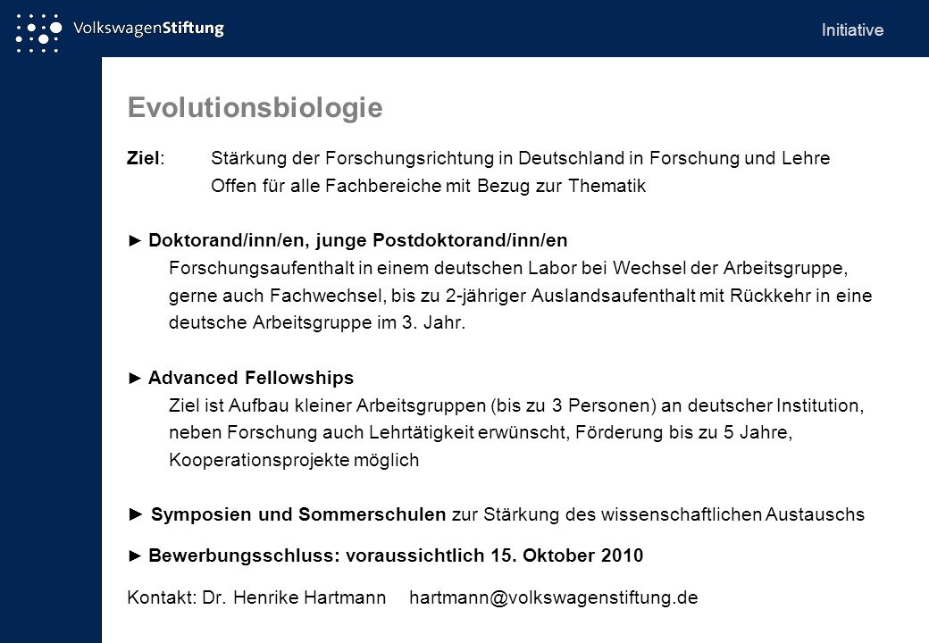 Initiative Evolutionsbiologie.
