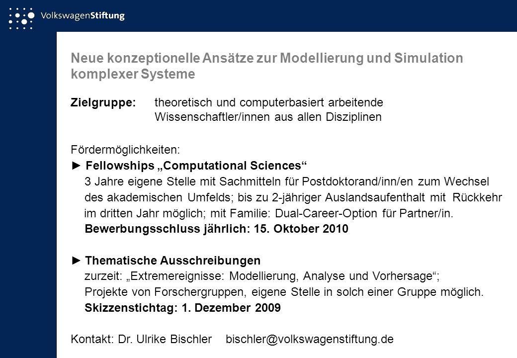 Neue konzeptionelle Ansätze zur Modellierung und Simulation komplexer Systeme