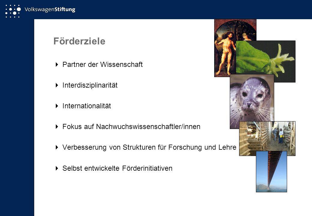 Förderziele  Partner der Wissenschaft  Interdisziplinarität