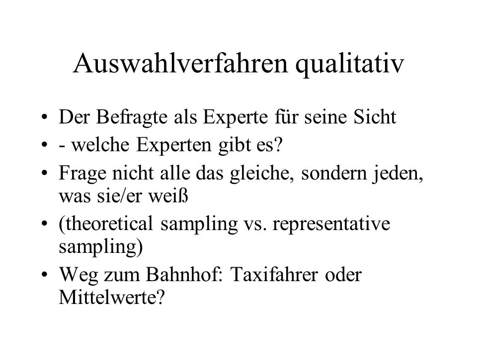 Auswahlverfahren qualitativ