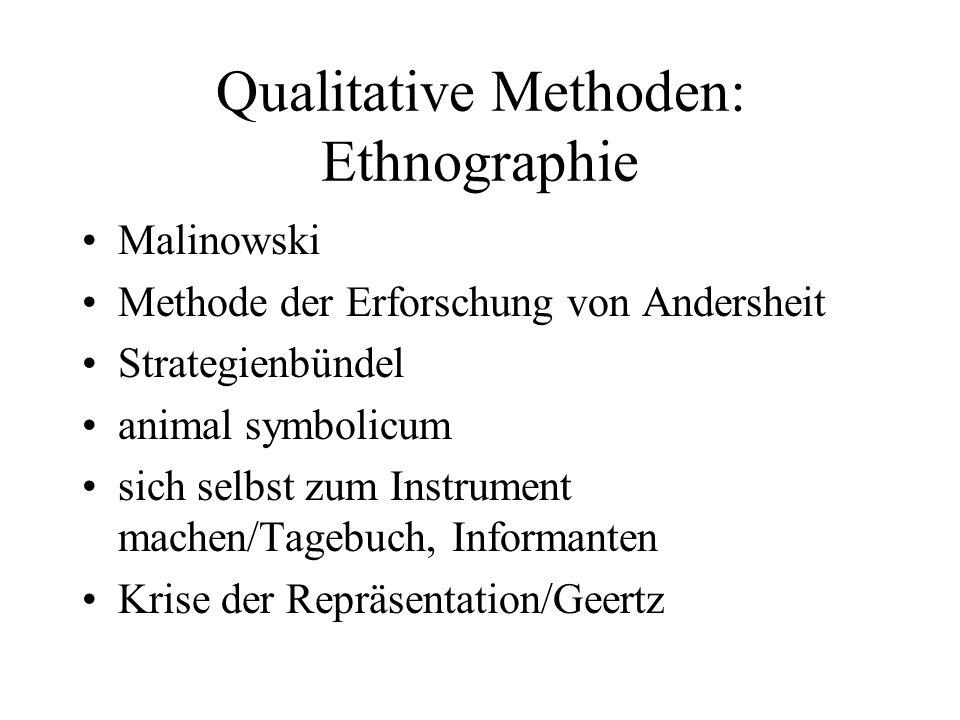 Qualitative Methoden: Ethnographie