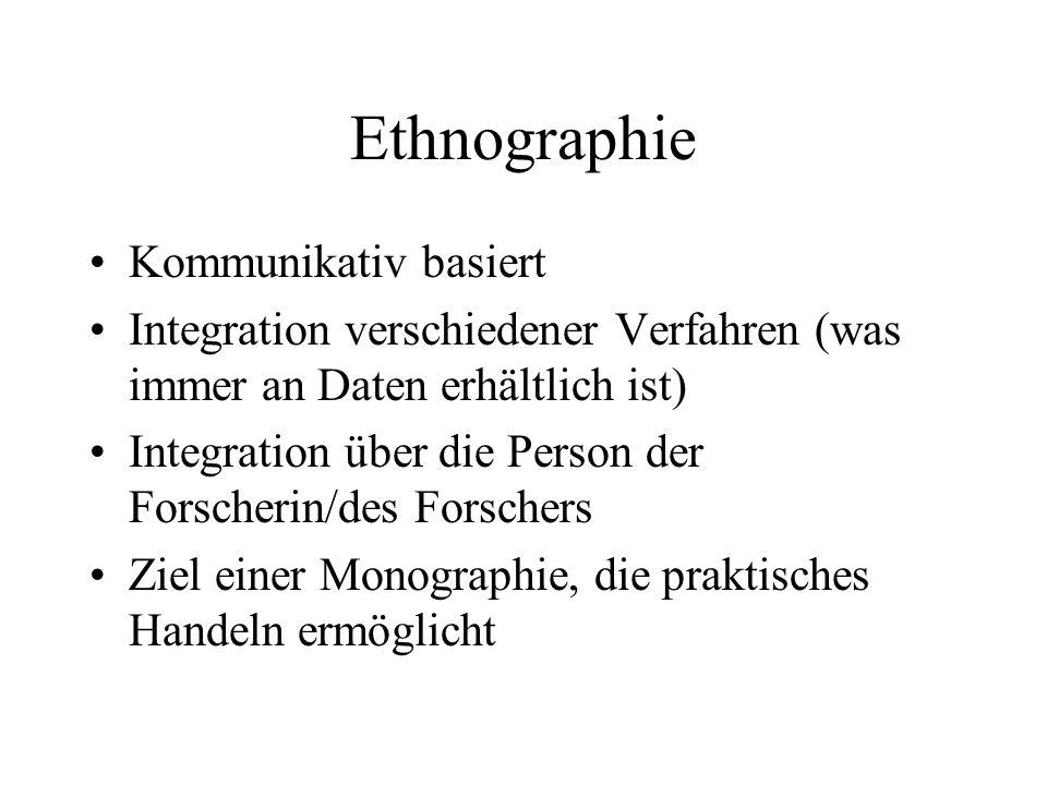 Ethnographie Kommunikativ basiert