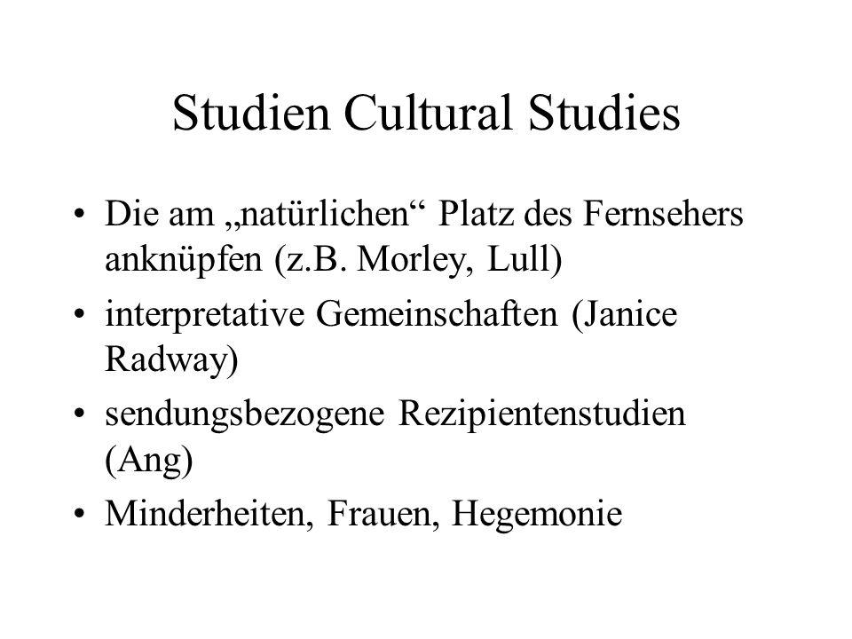 Studien Cultural Studies