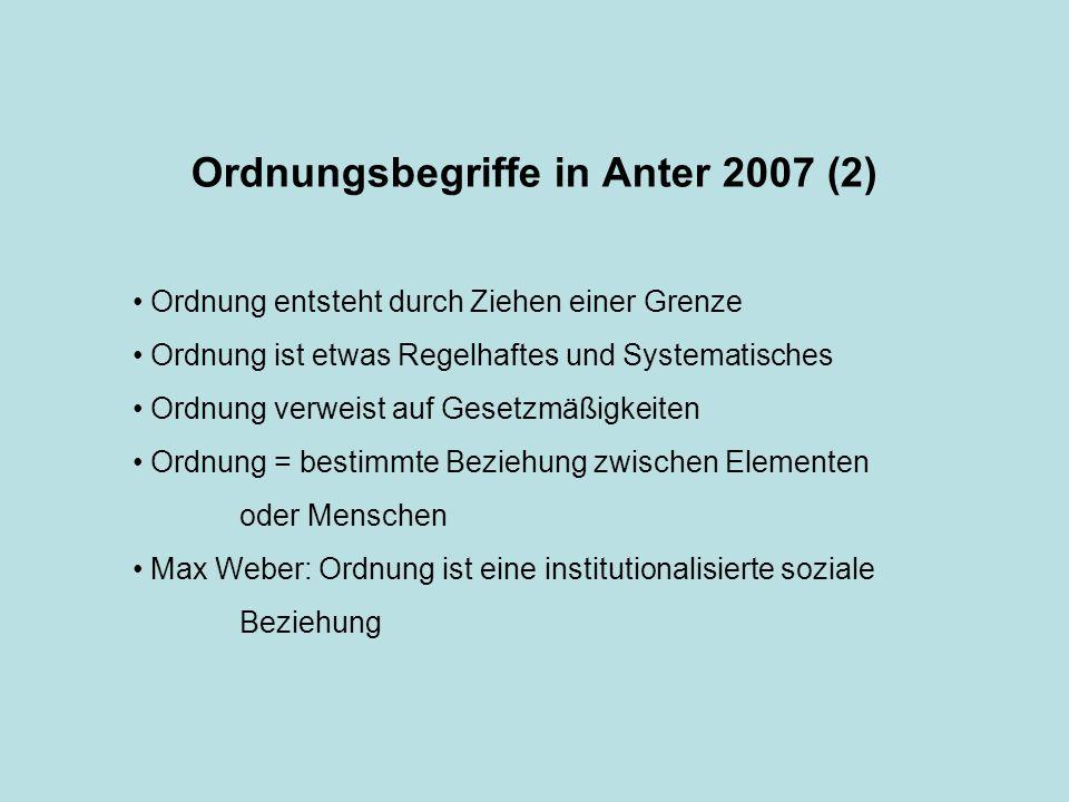 Ordnungsbegriffe in Anter 2007 (2)