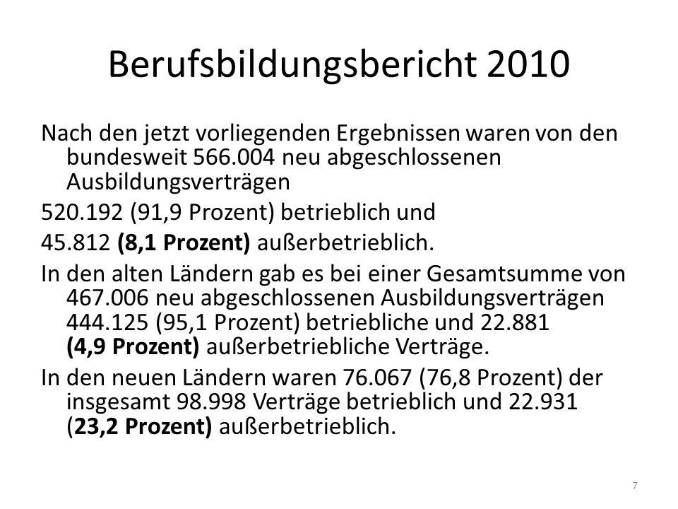 Berufsbildungsbericht 2010
