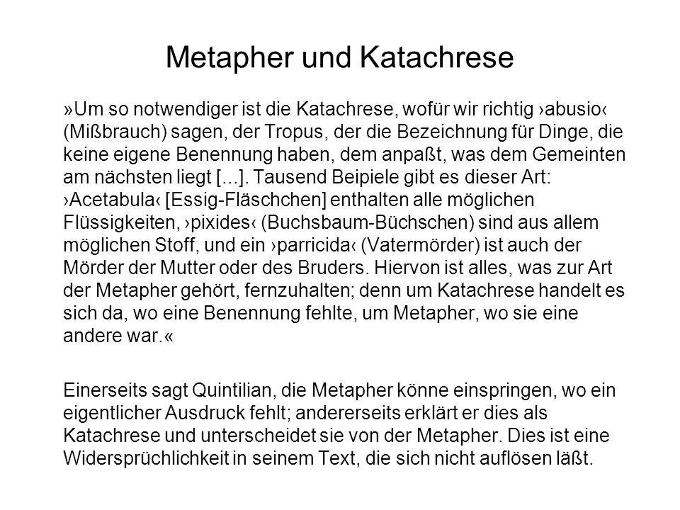 Metapher und Katachrese