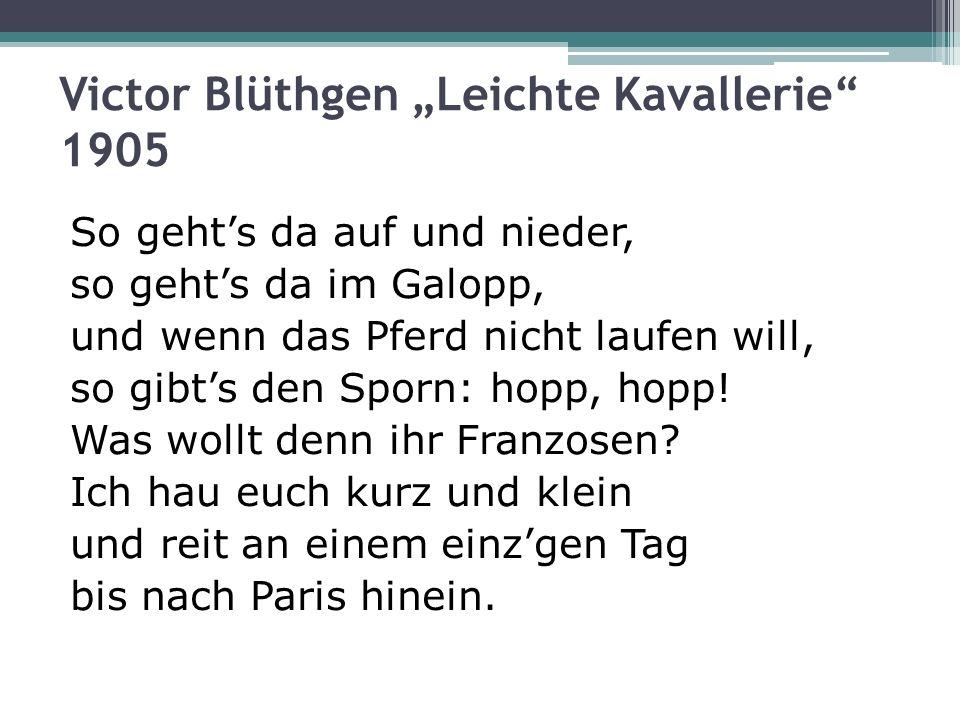 """Victor Blüthgen """"Leichte Kavallerie 1905"""