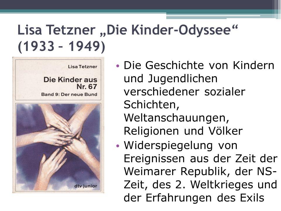 """Lisa Tetzner """"Die Kinder-Odyssee (1933 – 1949)"""