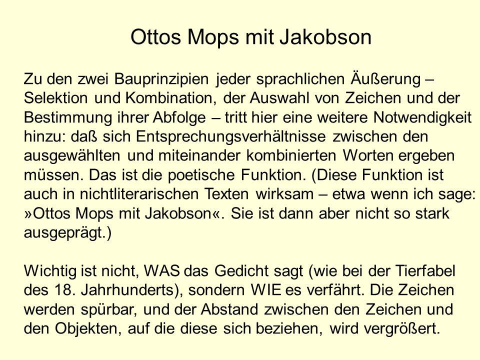 Ottos Mops mit Jakobson