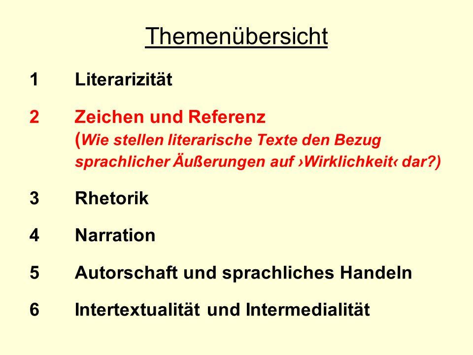 Themenübersicht 1 Literarizität