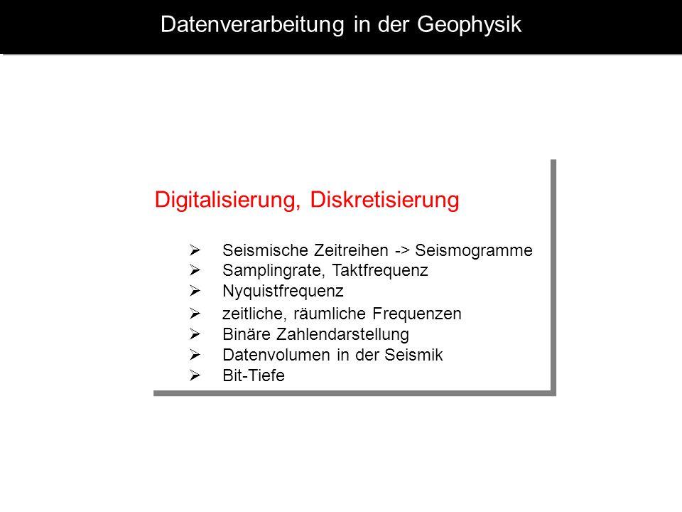 Datenverarbeitung in der Geophysik