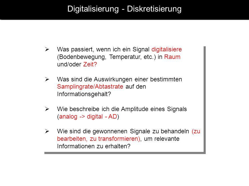 Digitalisierung - Diskretisierung