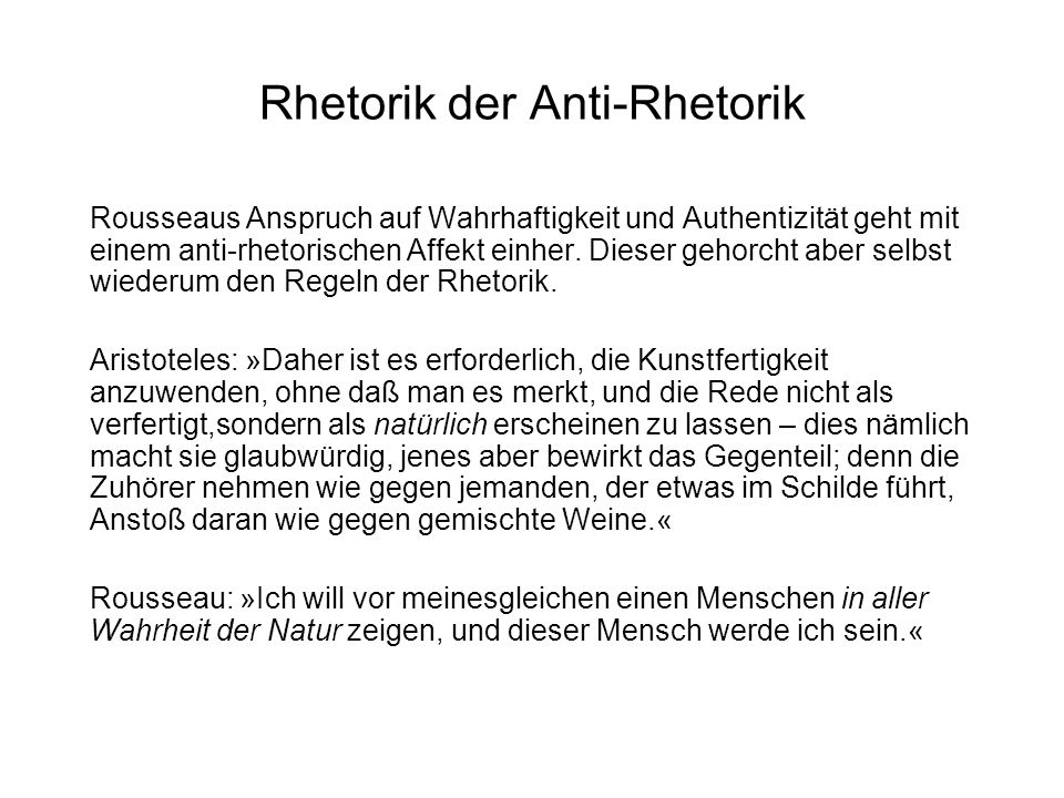 Rhetorik der Anti-Rhetorik