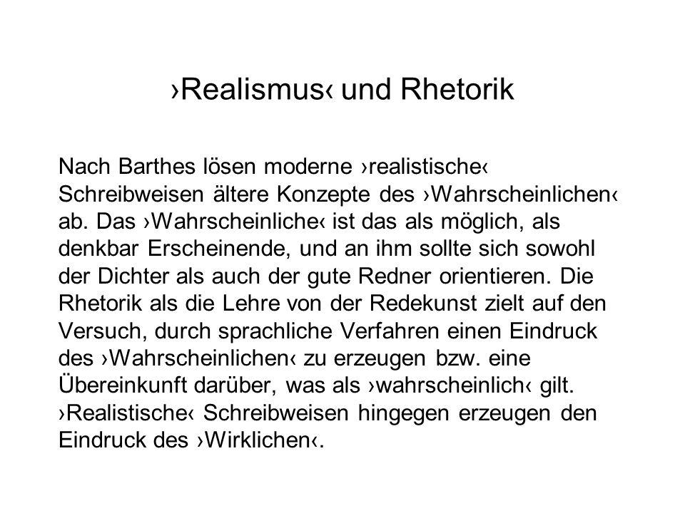 ›Realismus‹ und Rhetorik