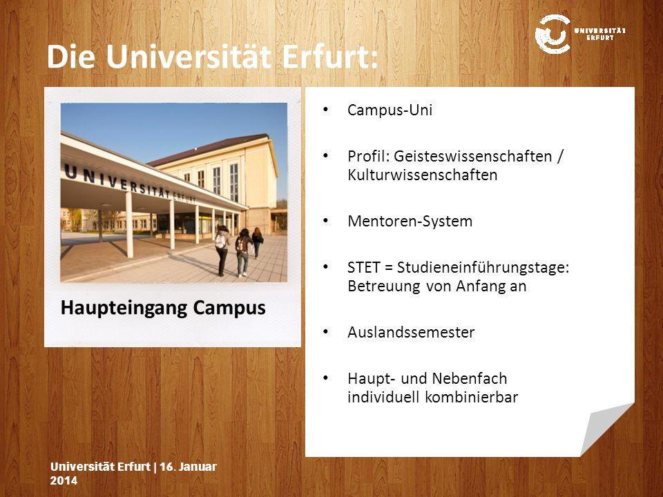 Die Universität Erfurt: