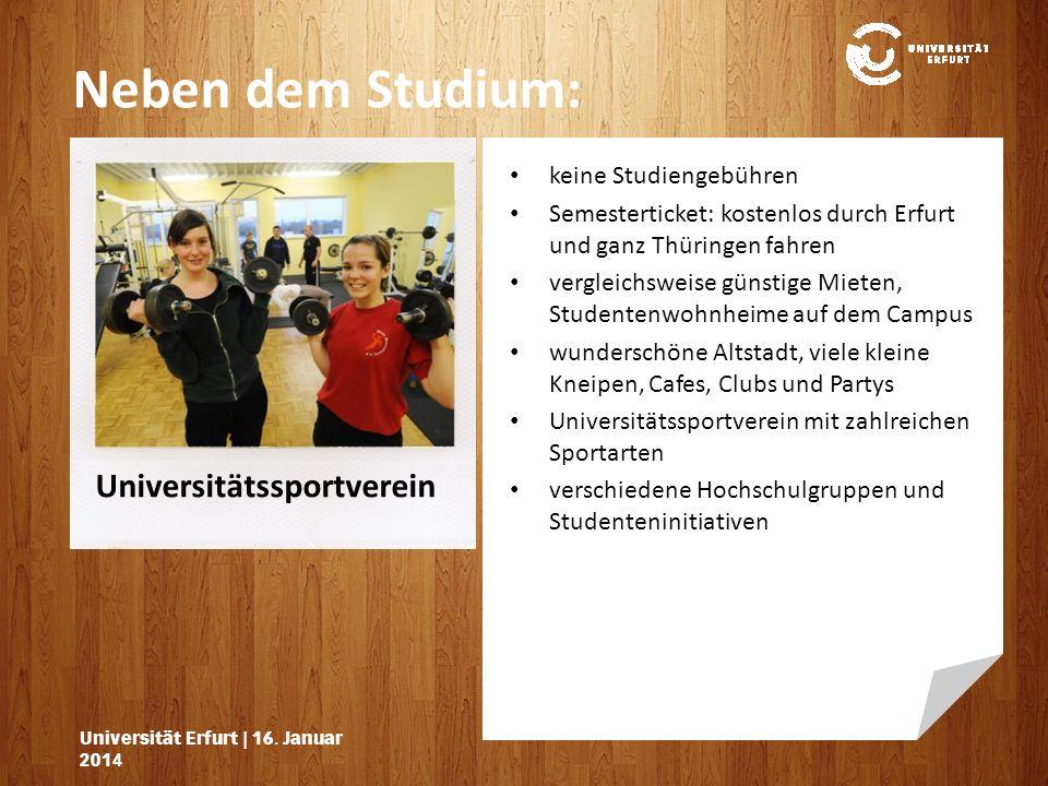 Neben dem Studium: Universitätssportverein keine Studiengebühren