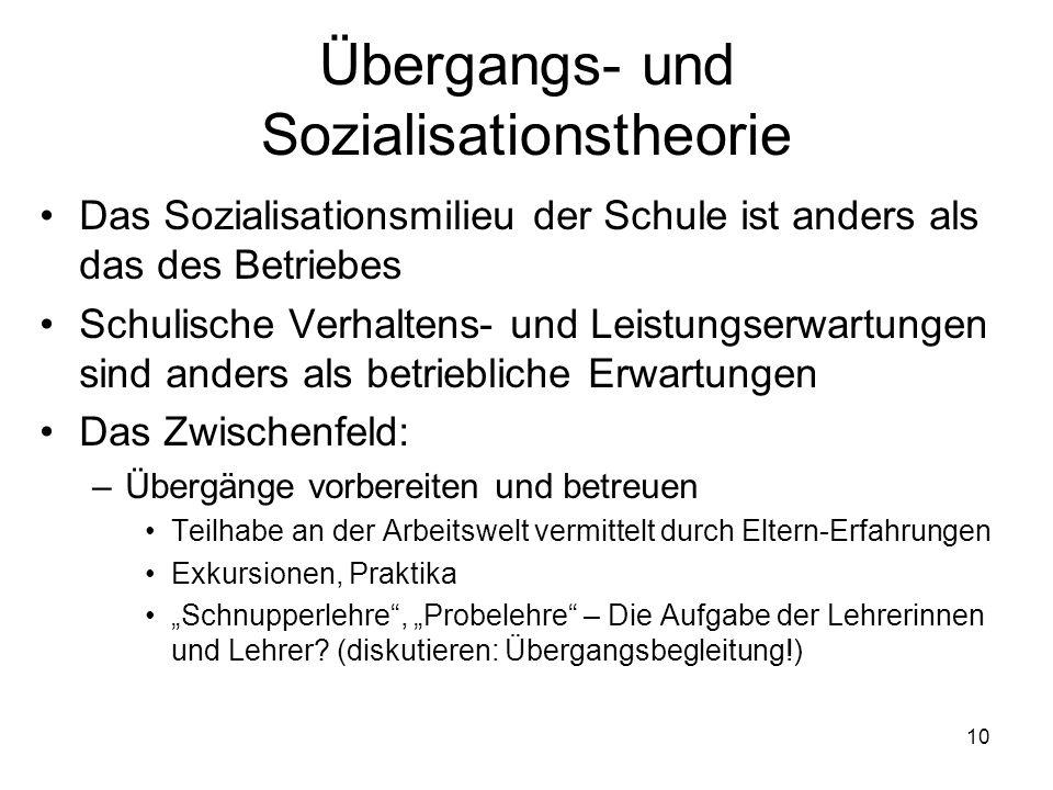 Übergangs- und Sozialisationstheorie