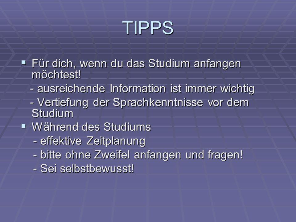 TIPPS Für dich, wenn du das Studium anfangen möchtest!