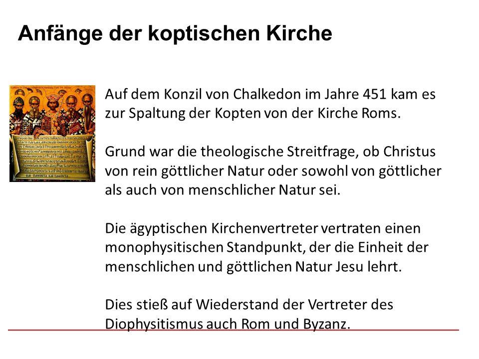 Anfänge der koptischen Kirche