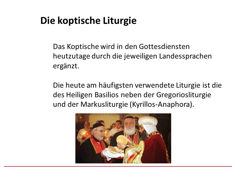 Die koptische Liturgie