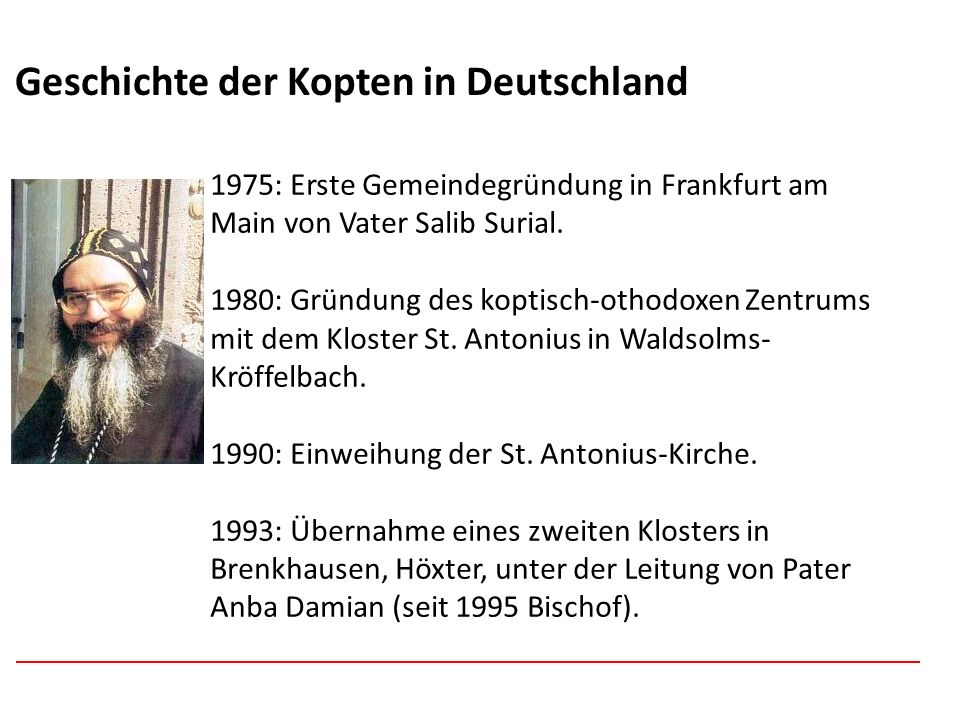 Geschichte der Kopten in Deutschland