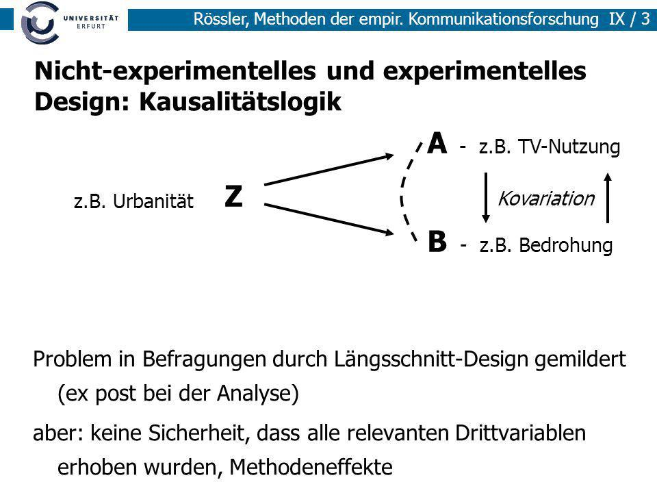 Nicht-experimentelles und experimentelles Design: Kausalitätslogik