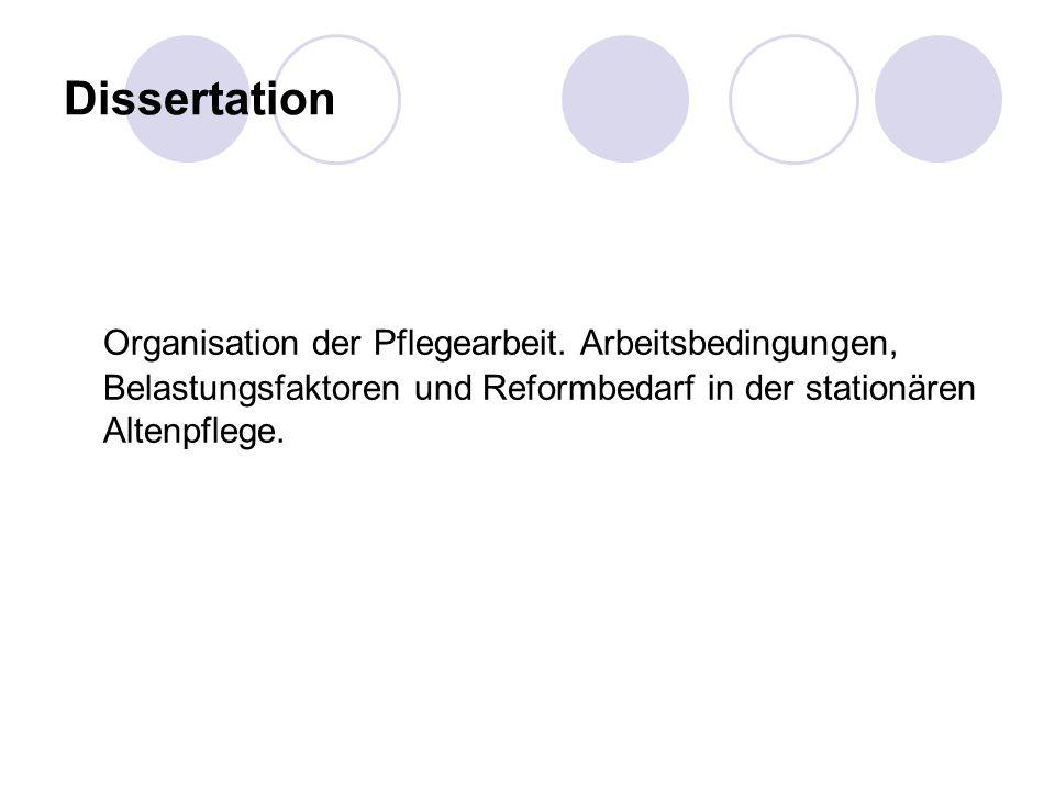 Dissertation Organisation der Pflegearbeit.