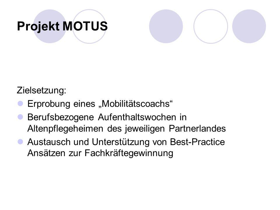 """Projekt MOTUS Zielsetzung: Erprobung eines """"Mobilitätscoachs"""