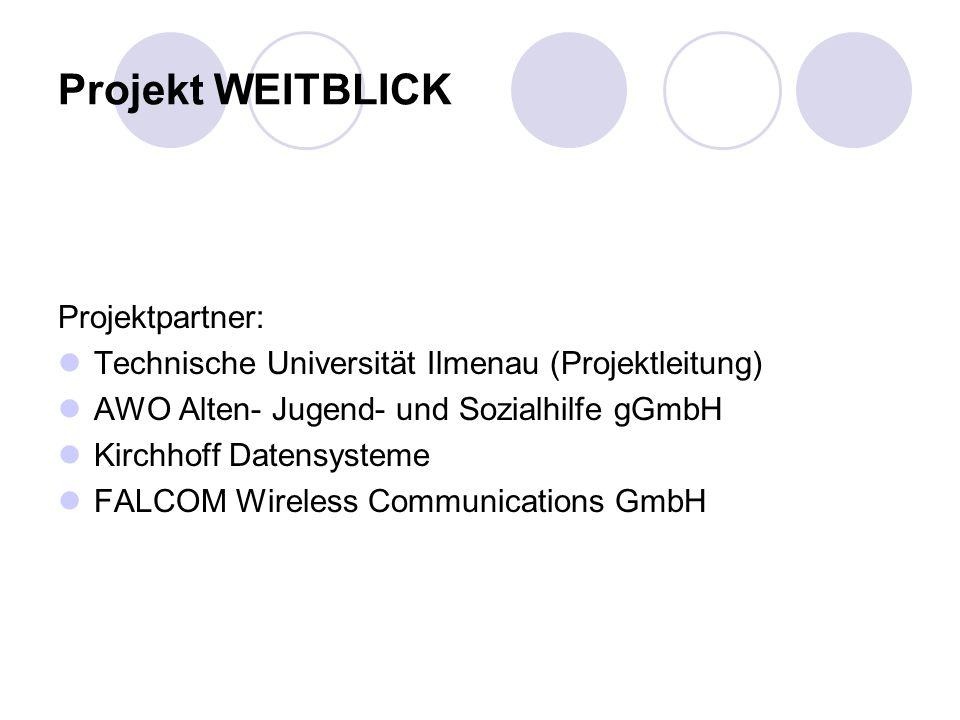 Projekt WEITBLICK Projektpartner: