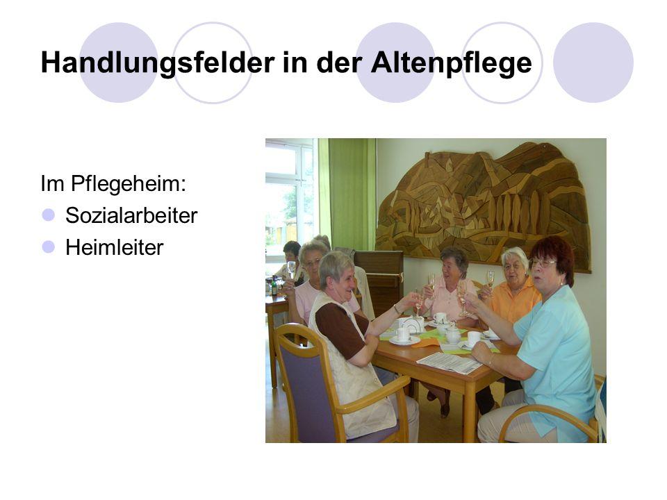 Handlungsfelder in der Altenpflege