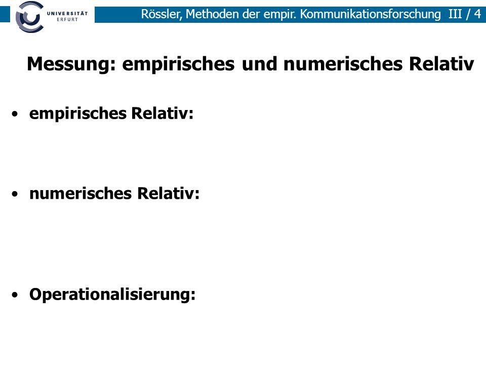 Messung: empirisches und numerisches Relativ