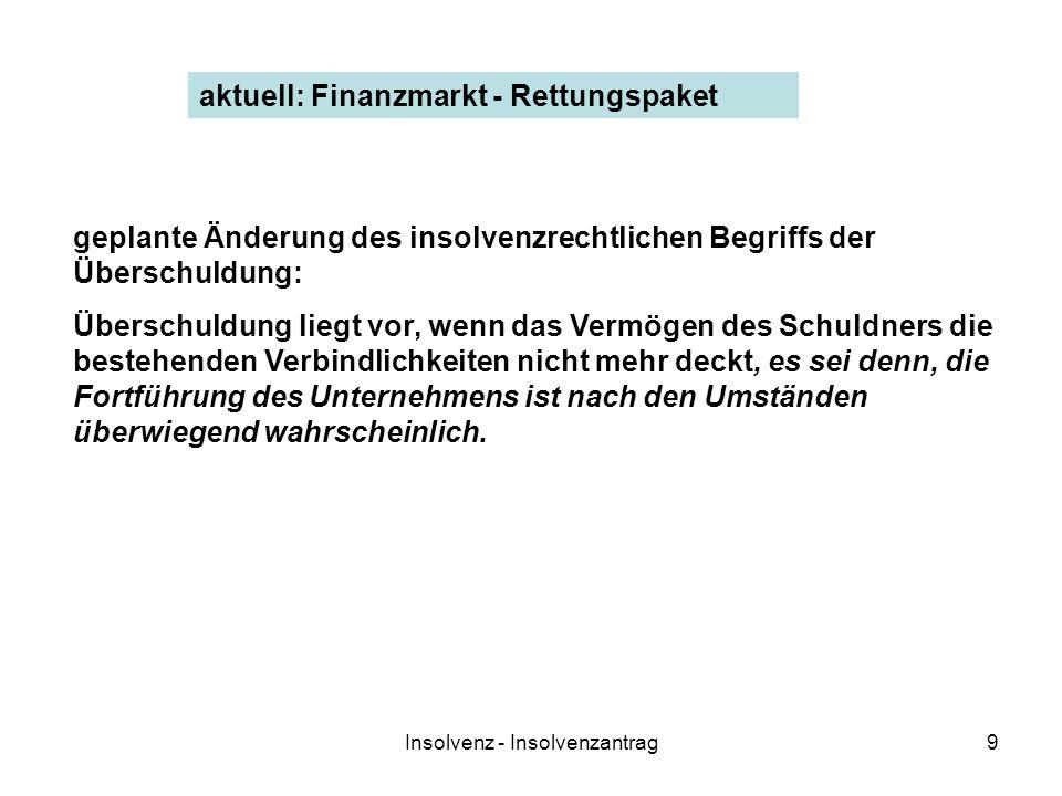 Insolvenz - Insolvenzantrag