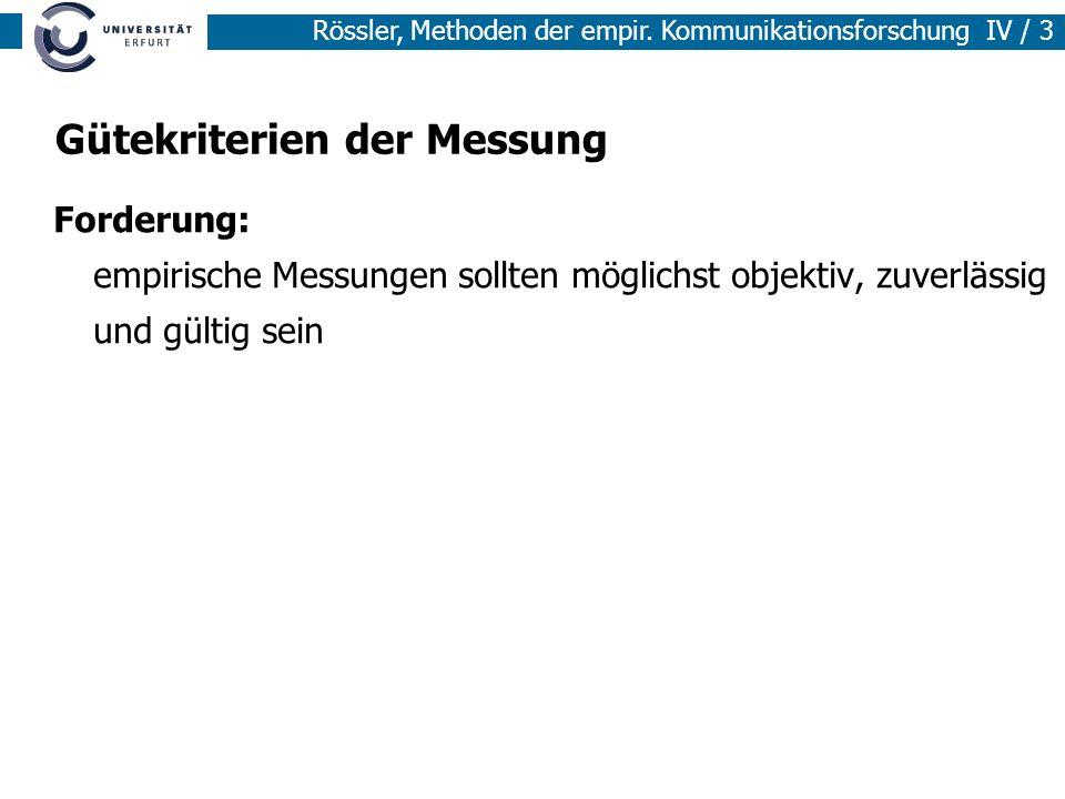 Gütekriterien der Messung