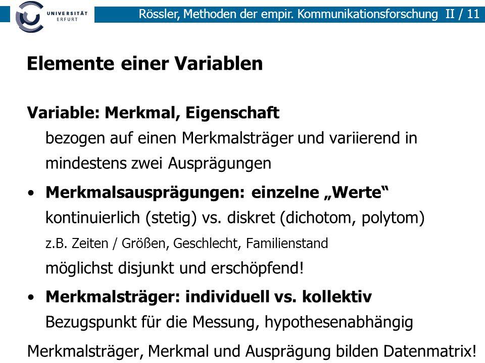 Elemente einer Variablen