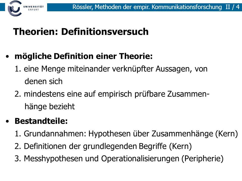 Theorien: Definitionsversuch