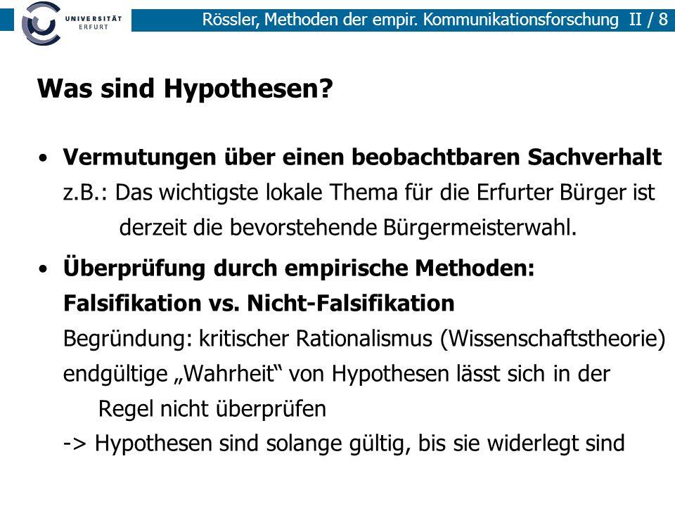 Was sind Hypothesen