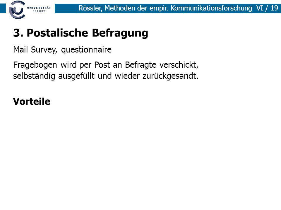 3. Postalische Befragung