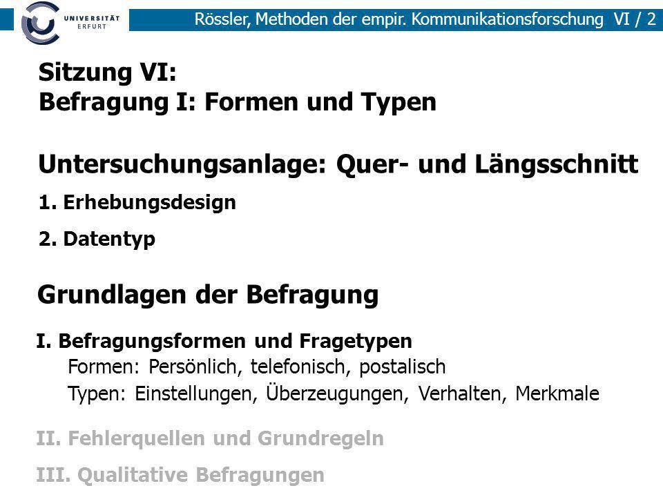 Untersuchungsanlage: Quer- und Längsschnitt