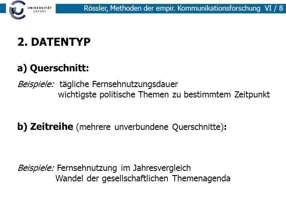 2. DATENTYP a) Querschnitt:
