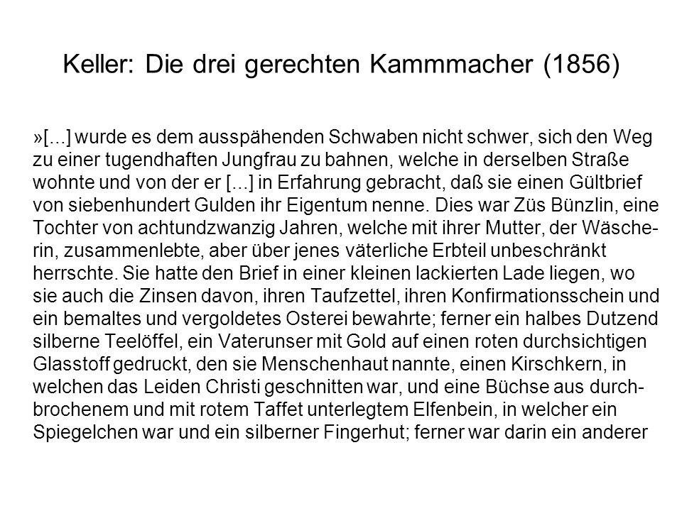 Keller: Die drei gerechten Kammmacher (1856)