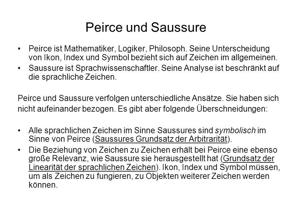 Peirce und Saussure