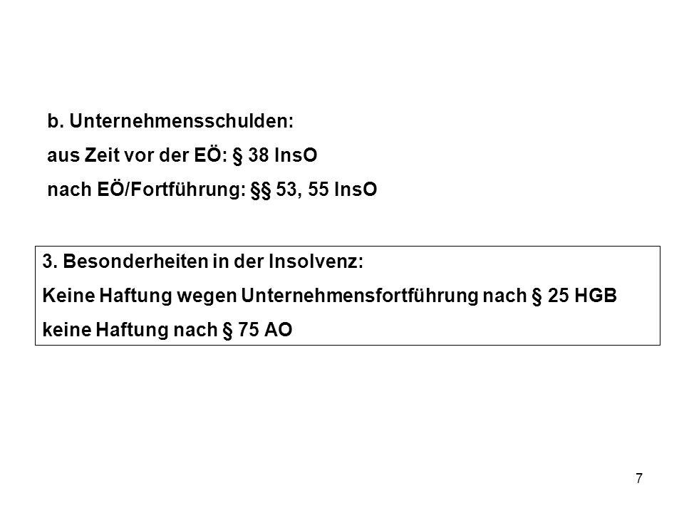b. Unternehmensschulden: