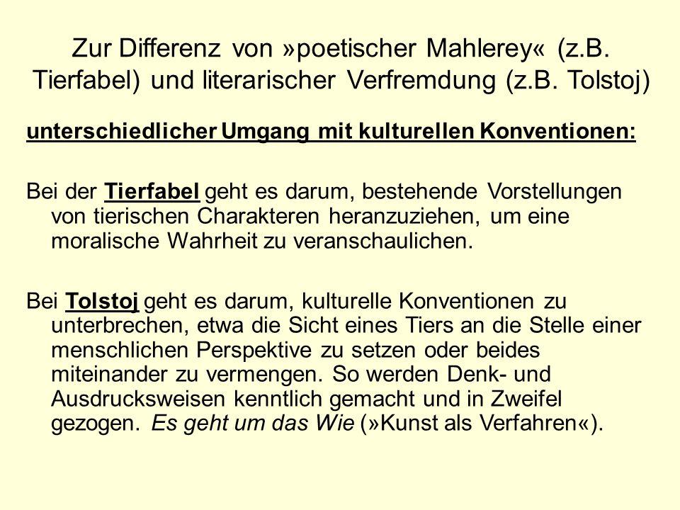 Zur Differenz von »poetischer Mahlerey« (z. B