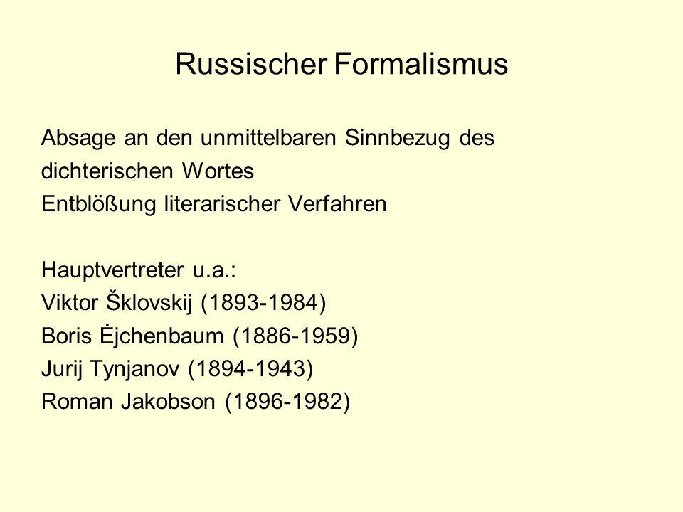 Russischer Formalismus