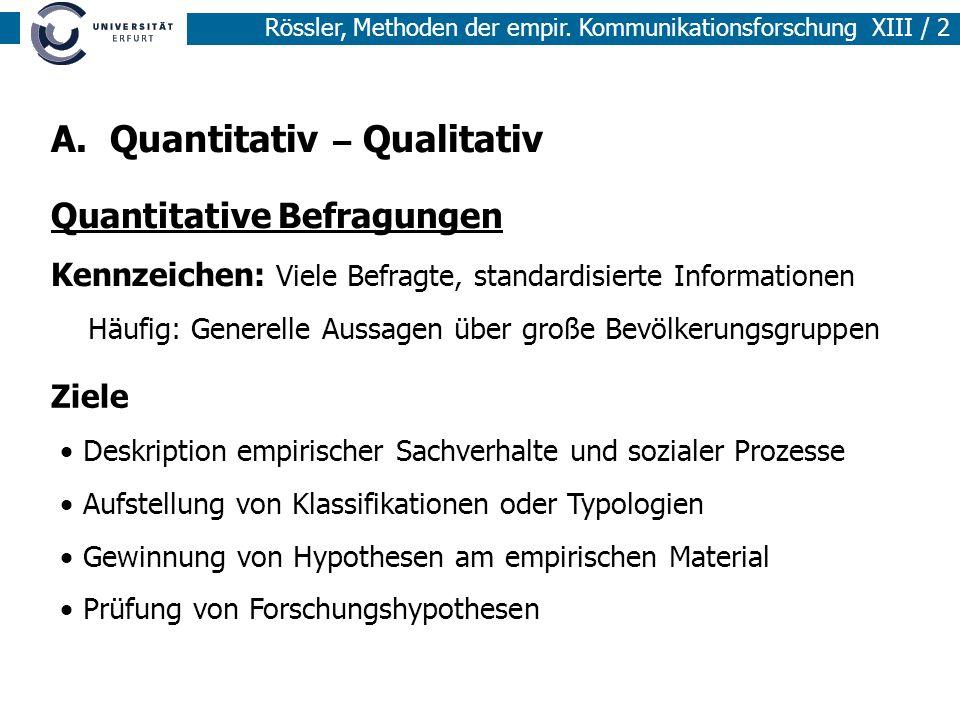 A. Quantitativ – Qualitativ