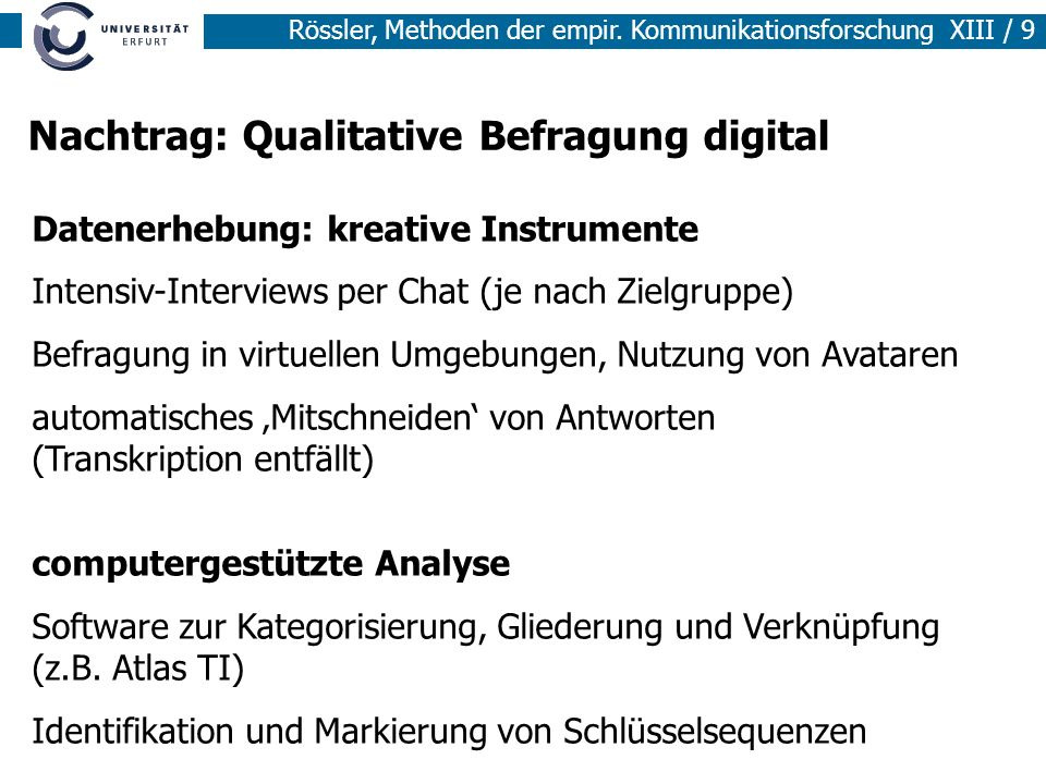 Nachtrag: Qualitative Befragung digital