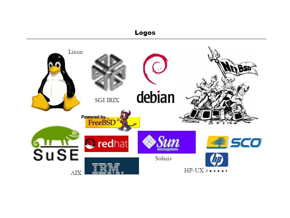 Logos Linux SGI IRIX Solaris HP-UX AIX