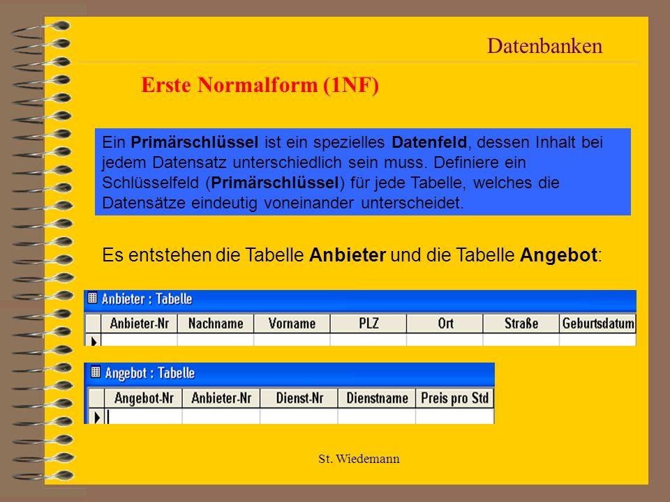 Datenbanken Erste Normalform (1NF)