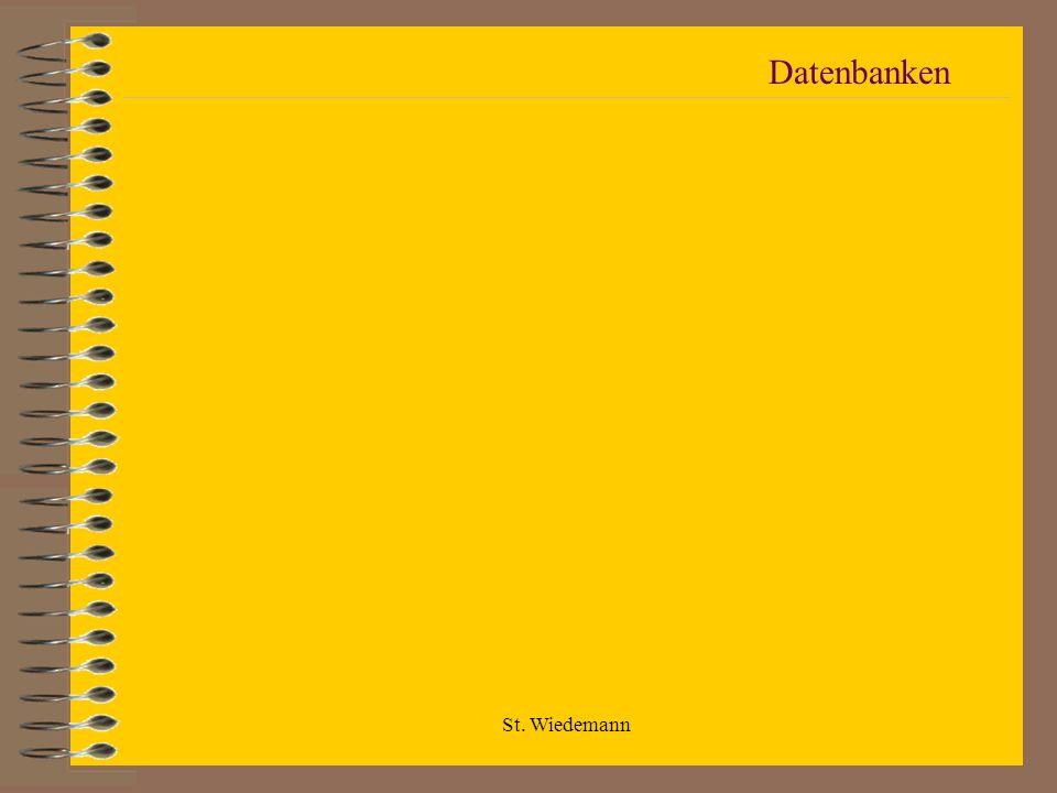 Datenbanken St. Wiedemann
